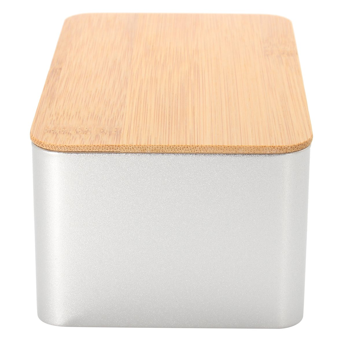 Kitchen Metal Storage Box With Bamboo Lid Bins Bread Sugar Boxes Tea Herb Stoarge Holder Food Containers Organizer Supplies 4