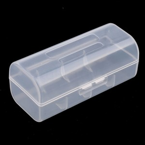 Портативный прозрачный чехол-органайзер 26650 для хранения аккумуляторов