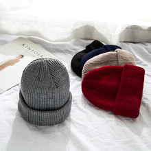 2018 Winter Women Knitted Hat For Girls Men Beanies Wool Cap Hip-Hop Hats Cap Men Casual Unisex Solid Skullies Warm Hat Grosses недорго, оригинальная цена