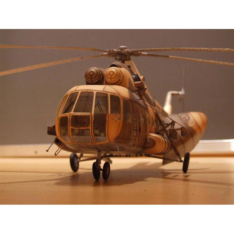 56cm Poland Mi-17  Transport Helicopter 1:33  Paper Model Handmade DIY Papercraft Education Toys
