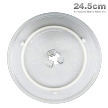 Free Shipping High quality 24.5cm Microwave Oven Glass Plate for Galanz Midea Haier etc. Microwave Oven Parts