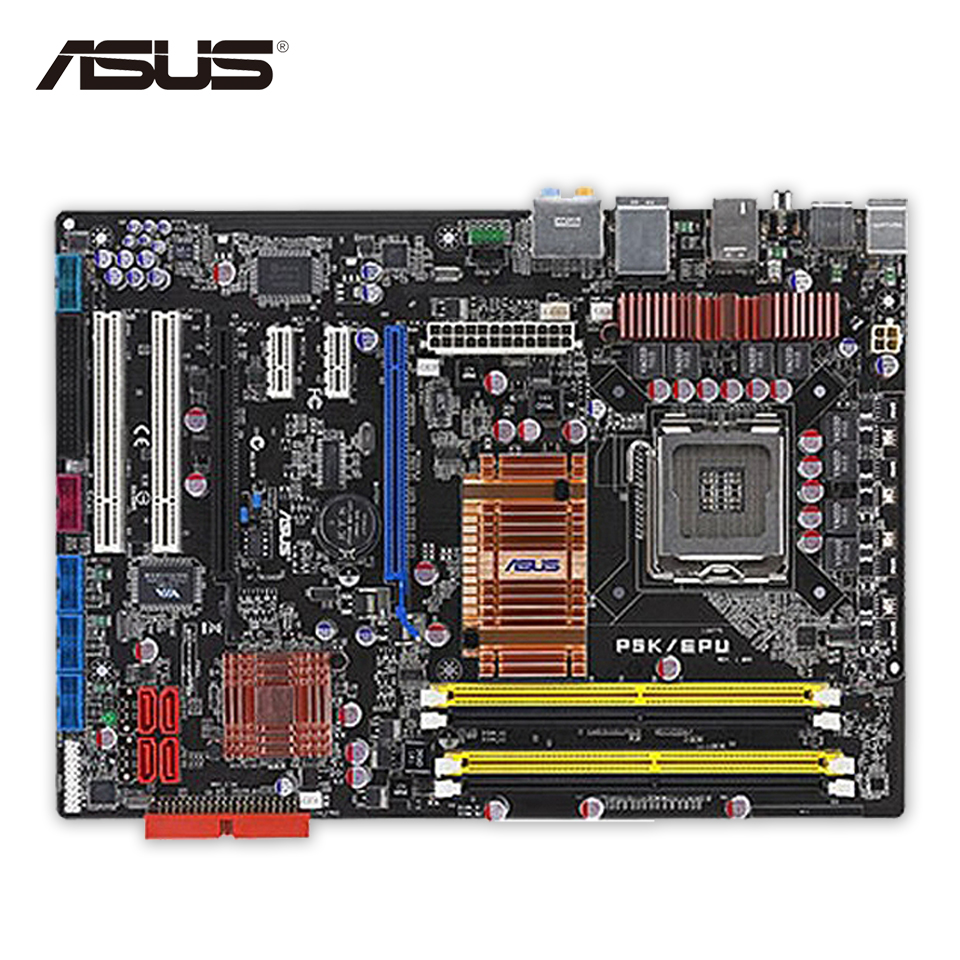 Asus P5K EPU Desktop Motherboard P35 Socket LGA 775 DDR2 8G SATA2  USB2.0 ATX Second-hand High Quality orange combat chinese women ankle boots 2016 round toe suede autumn fall flat lace up shoes work military genuine leather 2017