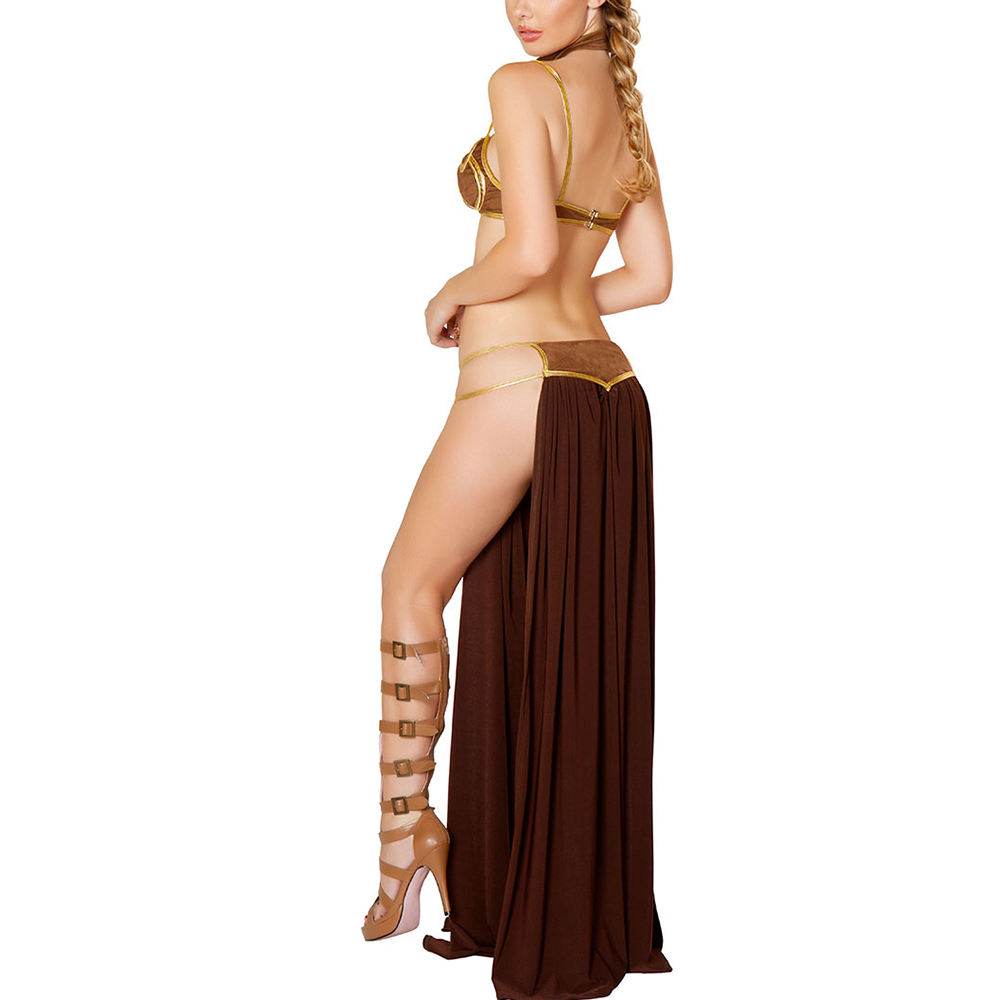 girl Star wars princess cosplay slave leia
