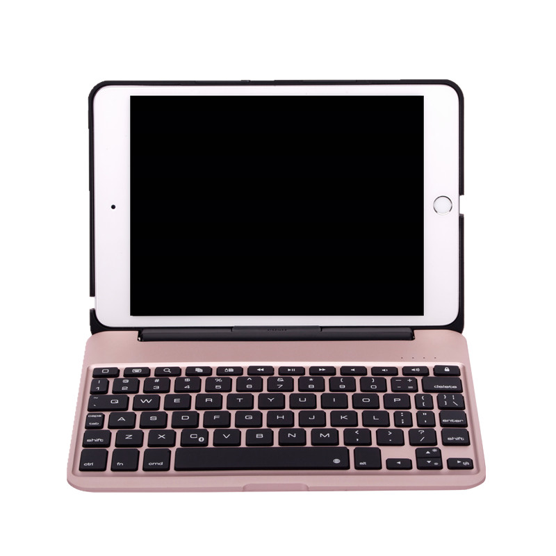 Slim Case for iPad Mini 4 Aluminum Wireless Bluetooth Keyboard 7-colors Backlit Protective Smart Cover for iPad mini4 Flip Stand icarer retro case for ipad mini 4 7 9 new fashion real leather flip tablet case cover for apple ipad mini4 7 9 protective stand