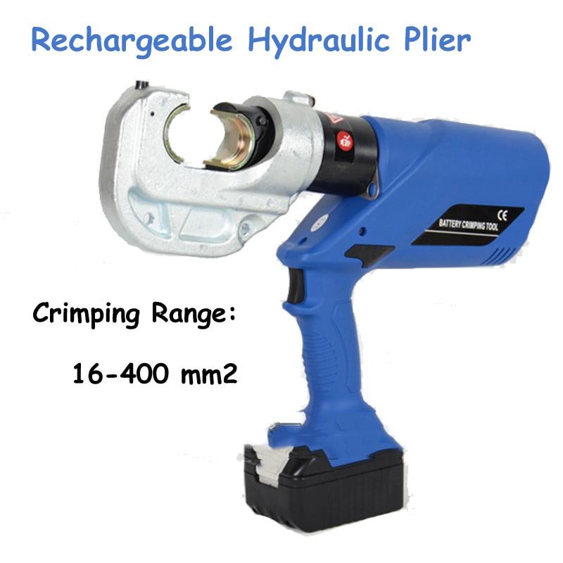 Alicate hidráulico recargable Herramienta de engarzado eléctrico Engarzadora de alambre con batería con rango de engarzado 16-400mm2 HL-400