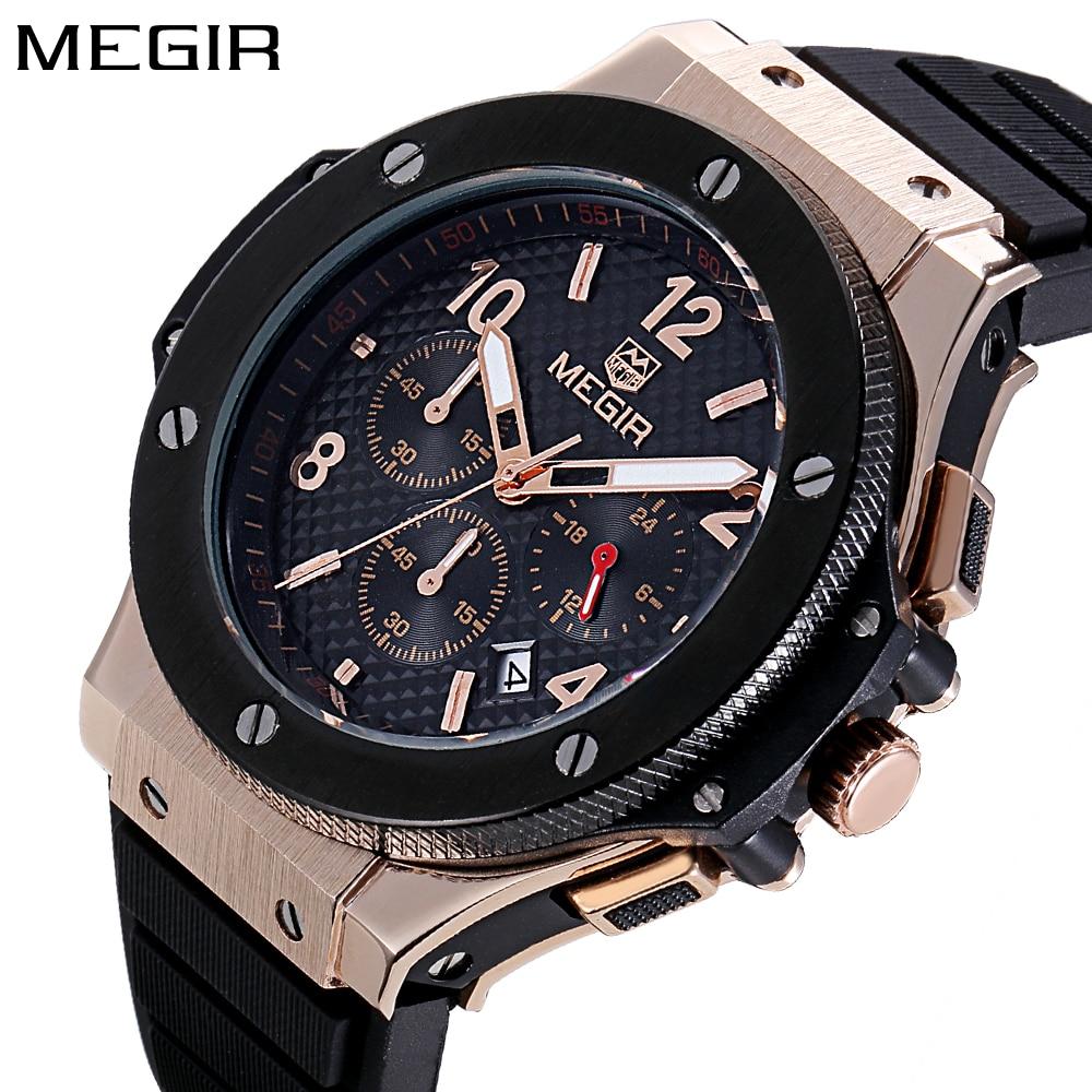 MEGIR Mens Watches Top Brand Luxury Quartz Gold Watch Men Casual Fashion Watches men Sport Wristwatch Clock Relogio Masculino