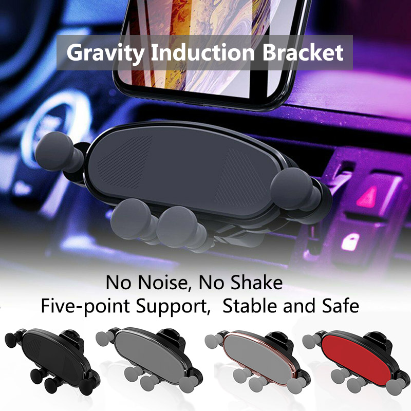 Vent Gravity Car Bracket Air Outlet ABS Plastic Invisible Phone Black Silver Universal Holder
