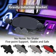 цена на Vent Gravity Car Bracket Air Outlet ABS Plastic Gravity Invisible Phone Bracket Black Silver Universal Car Bracket Holder