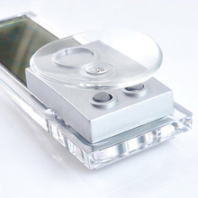 Transparent Car Digital Clock with Suction Cup