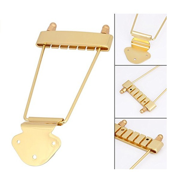 new gold silver electric guitar bridge high quality metal pull string bridge guitar accessories. Black Bedroom Furniture Sets. Home Design Ideas