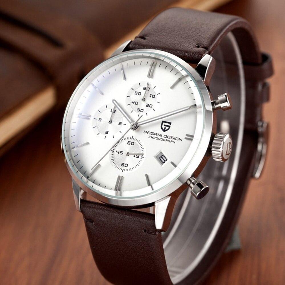 top marke luxus pagani design chronograph leder uhr wasserdicht