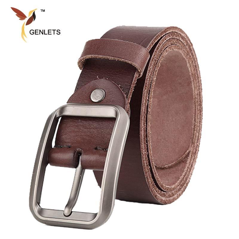 6c5a640e4619 2017 De Luxe véritable de ceinture en cuir hommes nouvelle boucle hommes  ceinture véritable ceinture en cuir pour hommes jean vintage bracelet en  cuir noir