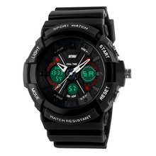 Sale Hot double time display unisex fashion sport Digital Quartz Alarm Waterproof LED Electronic Analog-digital Watches