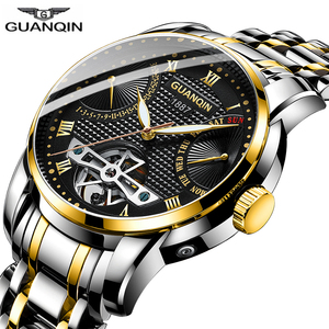 Image 3 - 2019 GUANQIN Watch men Automatic clock men swimming Mechanical men watch top brand luxury waterproof Tourbillon style erkek saat