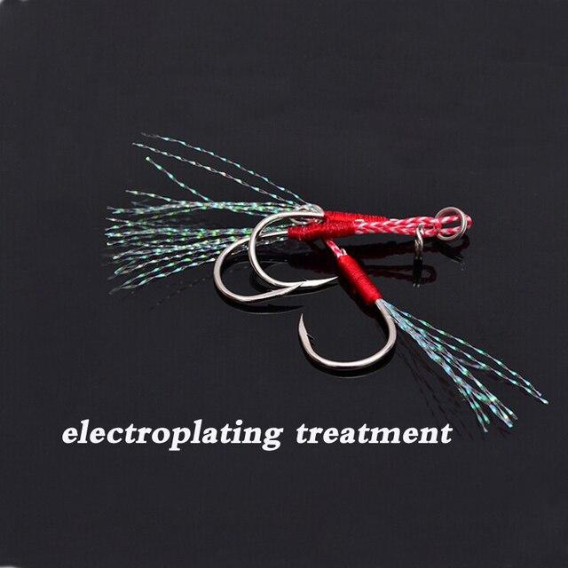 Best 5pcs/lot Barbed Single Jig Hooks Fishing Cast Assist Hook Fishhooks cb5feb1b7314637725a2e7: 5pcs black color 5pcs silver color