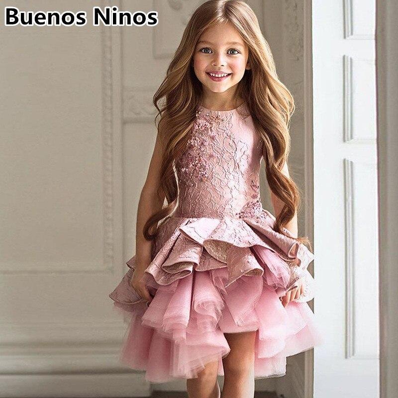 2019 été Condole ceinture Tutu robes pour enfants filles licou Tulle robes princesse gâteau robes avec rides couleur unie