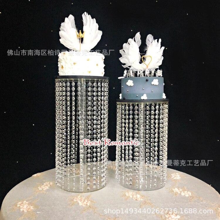 3 pcs 6 pcs di alta qualità di Cristallo trasparente del basamento della torta acrilico Romantico decorazione di cerimonia nuziale-in Supporti da Casa e giardino su  Gruppo 2
