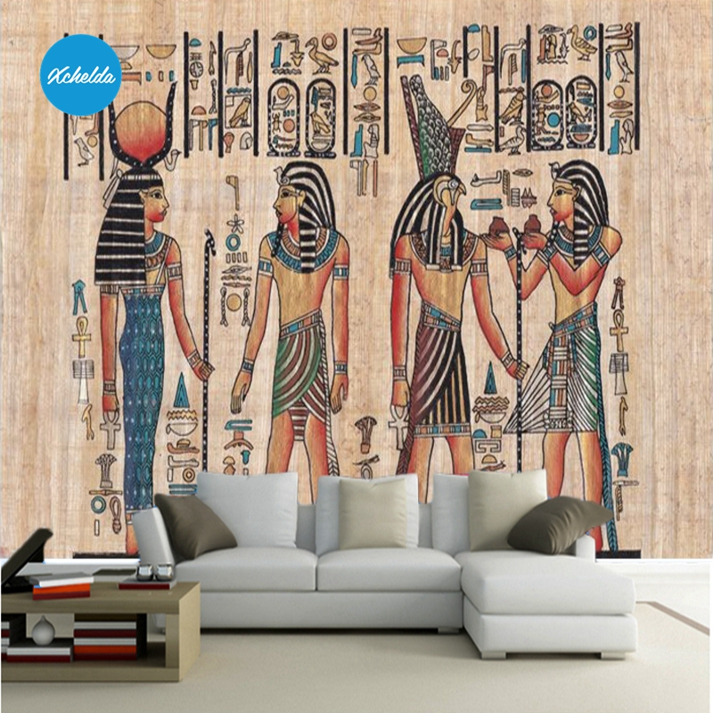 XCHELDA Custom 3D Wallpaper Design Egypt Style Photo Kitchen Bedroom Living Room Wall Murals Papel De Parede Para Quarto kalameng custom 3d wallpaper design street flower photo kitchen bedroom living room wall murals papel de parede para quarto