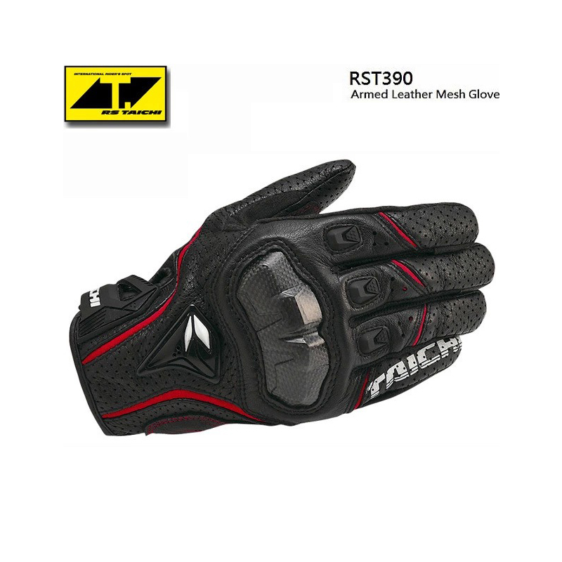Mesh Racing Motorcycle Gloves <font><b>Latest</b></font> <font><b>RS</b></font> <font><b>Taichi</b></font> RST390 <font><b>Armed</b></font> Leather Mesh Gloves Motocross Waterproof Motorbike Gloves