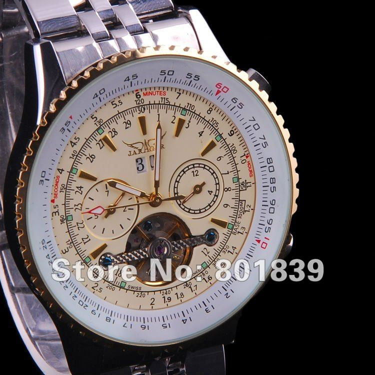 Luxury Golden Case Automatic Mechanical Watch Mens Date Week Tourbillon Multifunction Wristwatch Nice Gift Wholesale Price A494Luxury Golden Case Automatic Mechanical Watch Mens Date Week Tourbillon Multifunction Wristwatch Nice Gift Wholesale Price A494