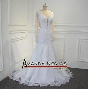 Image 5 - Sexy backless real foto trouwjurk amanda novias robe de mariee