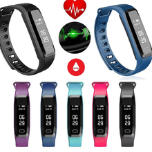 Водонепроницаемый здоровья данных Bluetooth Smart Браслет измеряется динамического сердечного ритма крови Давление мониторинг сна подарок