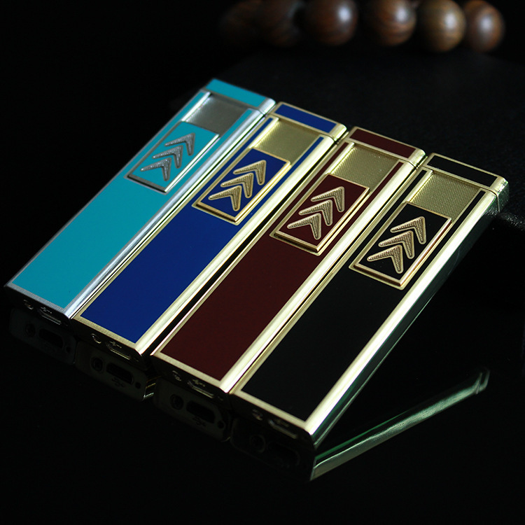 Tiger USB rechargeable lighter Metal heating wire cigarette lighter High end gift lighters Lighters Smoking Accessories