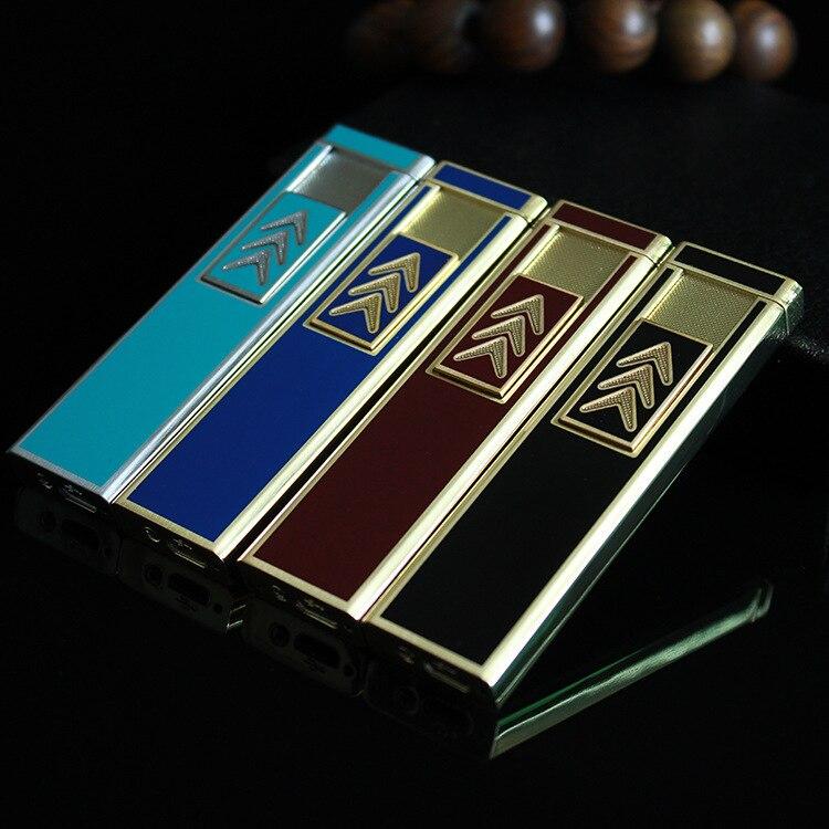 Tiger USB rechargeable lighter Metal heating wire font b cigarette b font lighter High end gift