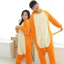 Cartoon Animal Lounge Adult Animal Onesie Yellow Long Tail Monkey Unisex Women Men's Pajamas Halloween Christmas Party Costumes