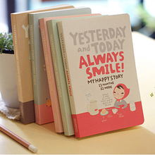 Cute Notebook Red Hat Girl Agenda Week Plan Diary Day PlannerJournal Record Stationery Office School Supplies