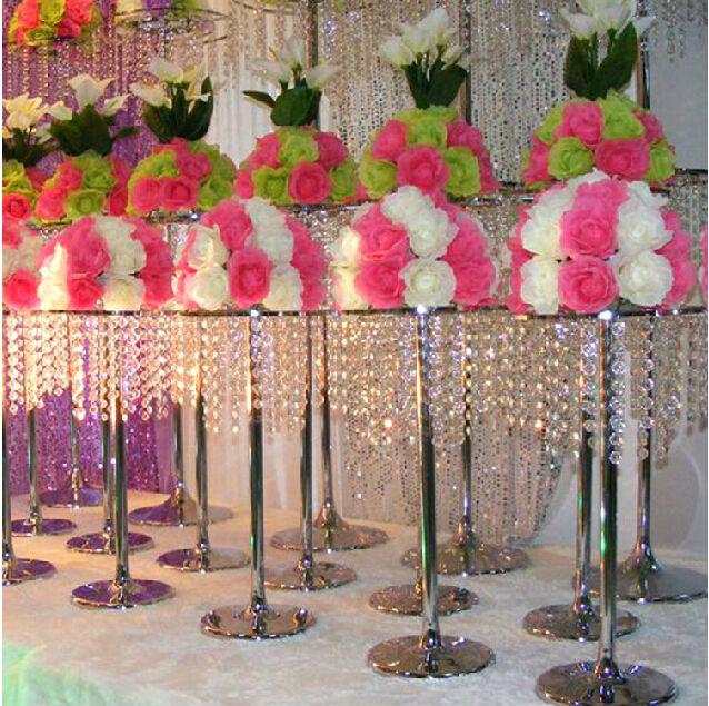 10pcs Lot Acrylic Crystal Wedding Centerpieces Ferris Wheel Road Led Candle Holders Decoration 60cm