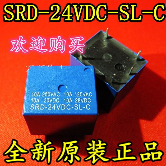 50pcs/lot SRD-24VDC-SL-C SRD-24VDC DIP5