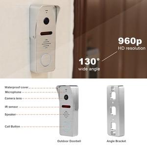 Image 3 - HomeFong intercomunicador de vídeo con cable 10 pulgadas Video puerta teléfono HD 960P 130 grados Video timbre soporte detección de movimiento intercomunicador doméstico