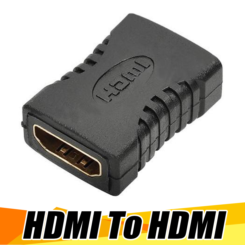 100pcs New HDMI Female to Female Extender Coupler Adapter Connector F F Suitable For HDTV