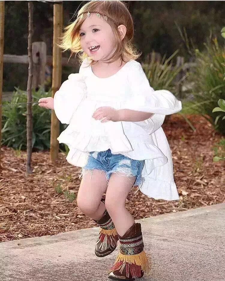 2017 Spring Sweet Toddler Baby Girls White Style Dress Casual