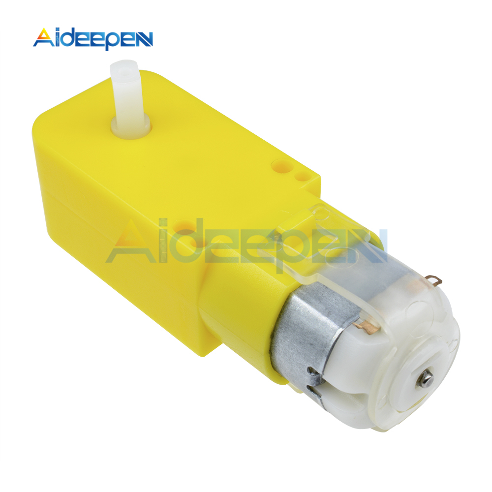 6V DC 100RPM Dual Shaft Car Toy Reduced Gear Motor Yellow Ships From USA