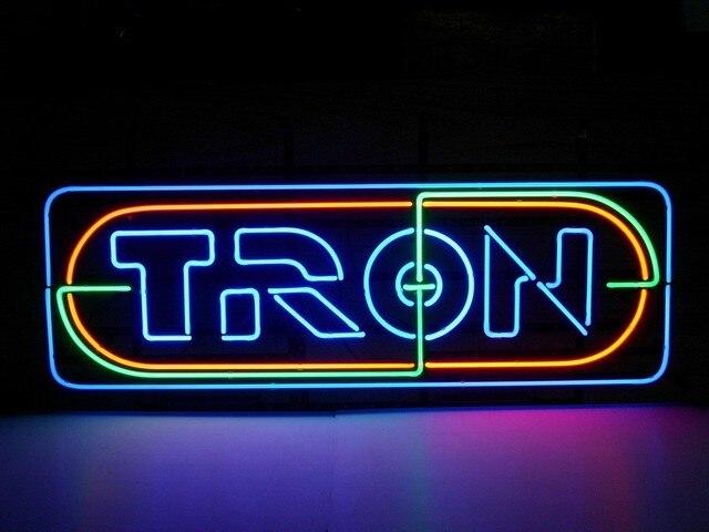 Custom TRON Nintendo Glass Neon Light Sign Beer Bar