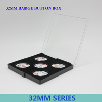 32mmSeries Plastic Empty Gift Packing Boxes Badge Gift Box 50pcs