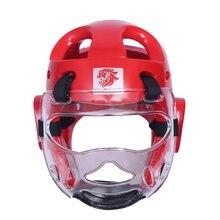 Шлем для тхэквондо, для бокса, для защиты, с маской, тренировочный протектор, Санда, муай тай, каратэ