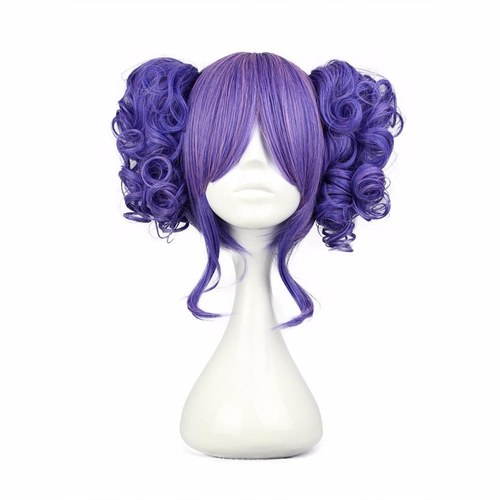 35cm lång blå vacker lolita peruk anime - Syntetiskt hår - Foto 1
