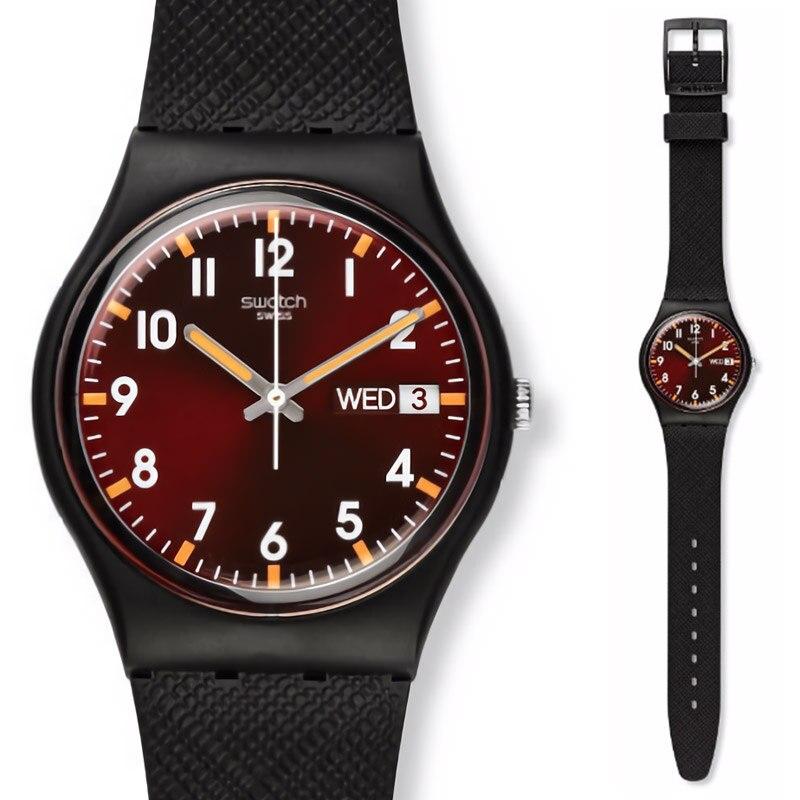 Saatler'ten Kuvars Saatler'de Swatch İzle Klasik Renk Kod Serisi quartz saat GB753'da  Grup 1