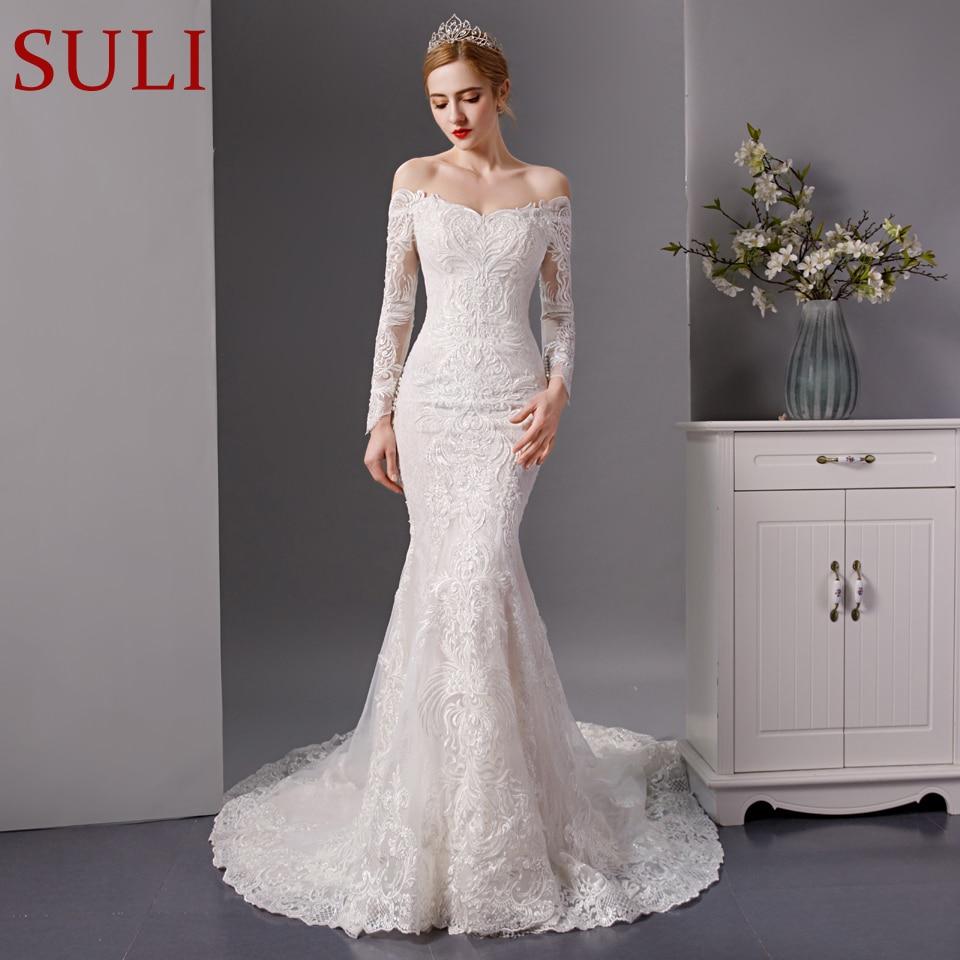 Full Sleeve Wedding Gown: SL 6088 New Long Sleeve Mermaid Wedding Dress 2019 Wedding