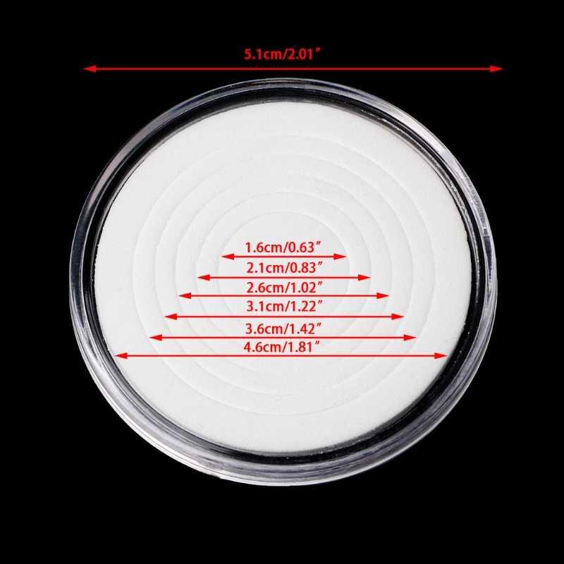 46 milímetros Titular Moeda de Plástico Cápsula De Armazenamento Caso Caixa De Exibição Com 5 Tamanhos Anéis Pad l29k