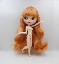 Blygirl,Blyth doll,Two-tone curly hair, 19 joints body, new face shell doll, 1/6 nude doll, can make up for her blygirl blyth doll black curly doll no 114bl58 joint body 19 joints white body