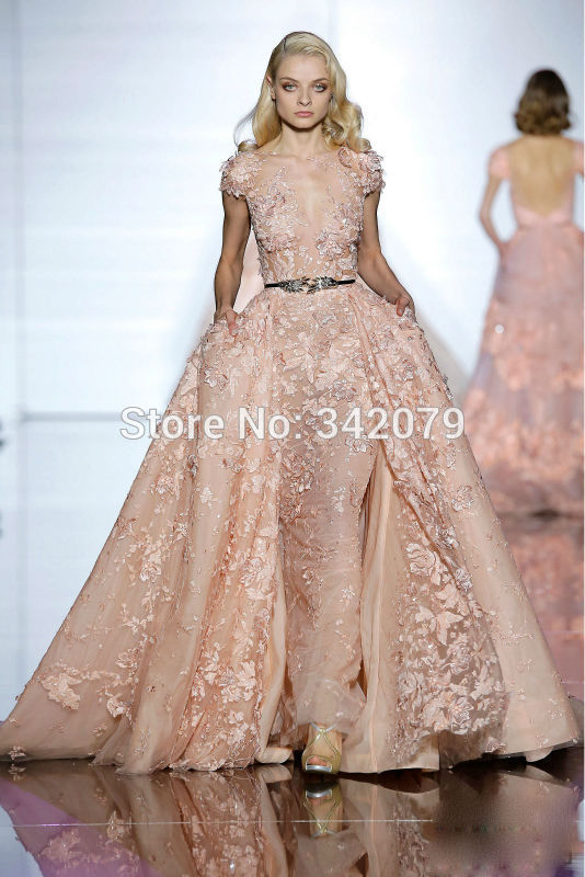 ph15425 thread embroidery tulle dress zuhair murad evening dresses ...