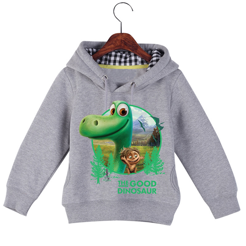 Jiuhehall High Quality Children\'s The Good Dinosaur Hoodies & Sweatshirts Autumn Winter Plus Velvet Boys Girls Hoodie GCM016 (4)