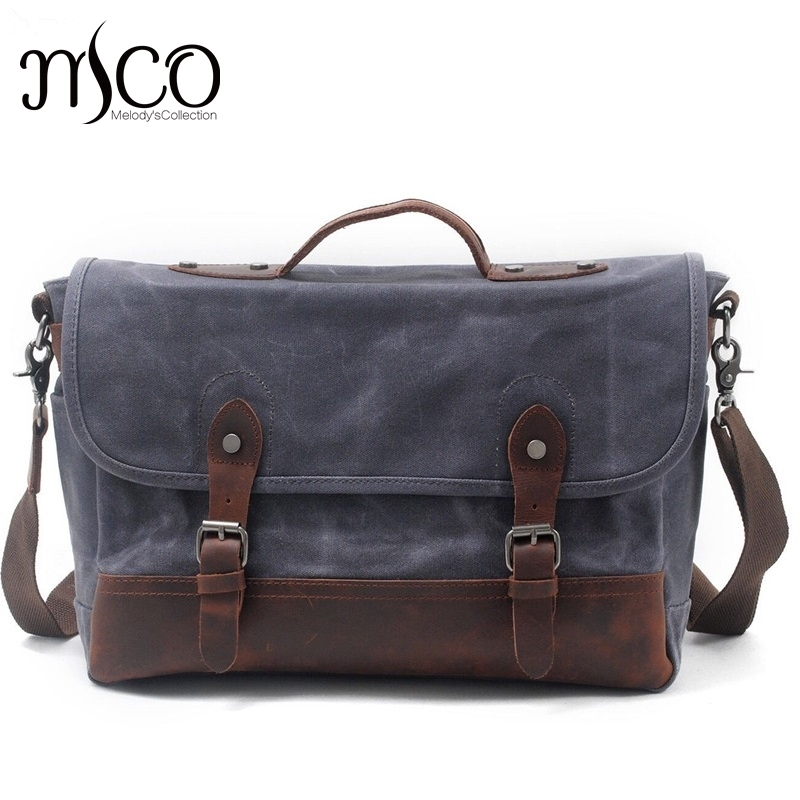 Men Casual Business Computer Laptop Handbag Tote Youth Boy Crossbody Bag Vintage Waterproof Canvas Shoulder Bag Men's Travel Bag vintage crossbody bag dark khaki canvas shoulder bags men messenger bag man casual handbag tote business briefcase for computer
