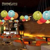 Moderne Mode Hand made Hanfseil pendelleuchten esszimmer suspension leuchte e27 110 v/220 v für dekor D50CM