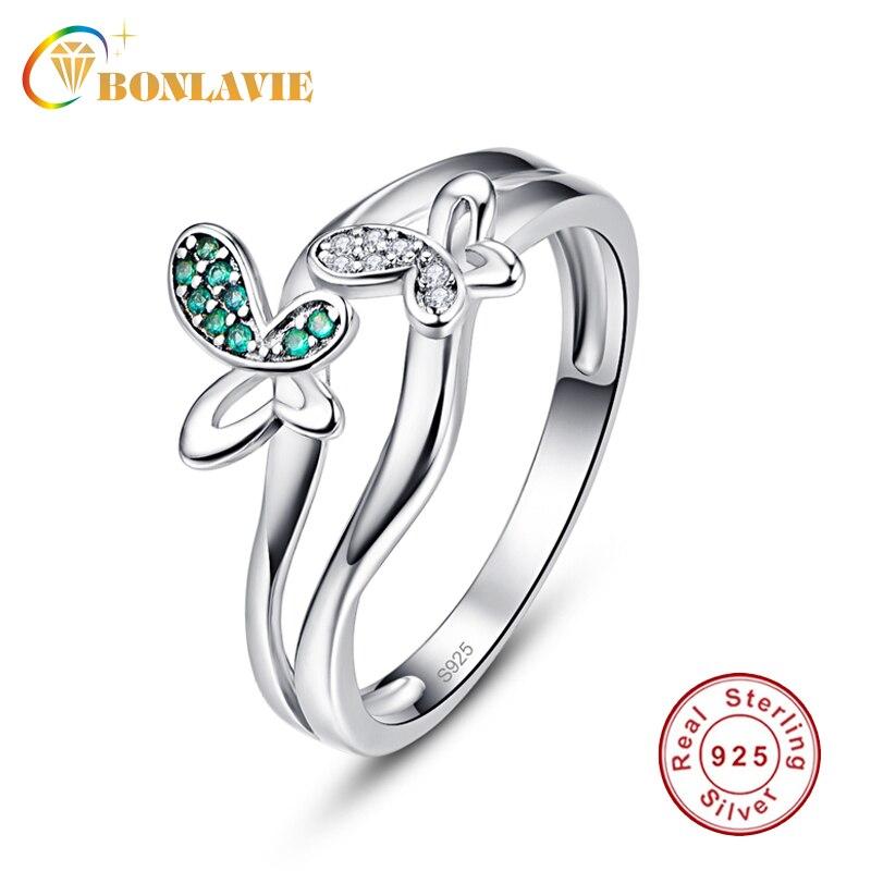 BONLAVIE Finger-Rings Dancing Jewelry Spring-Collection 925-Sterling-Silver Green Women