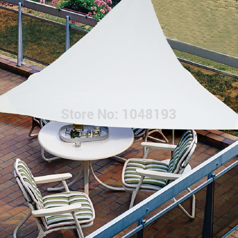 UV Waterproof triangles Sun Shade Sail 3m X 3m X3m Shade Net awning outdoor courtyard swimming pool gazebo canopy shading park